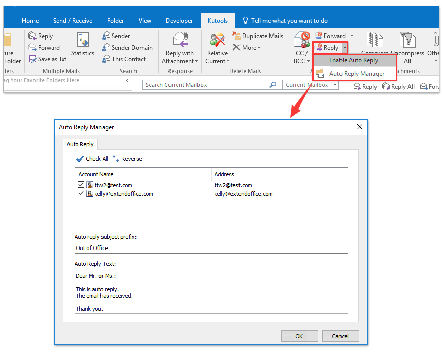 How To Set Out Of Office Automatic Reply In Outlook