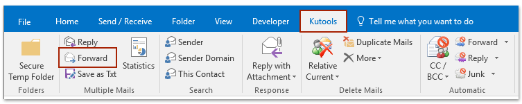 forward multiple emails individually