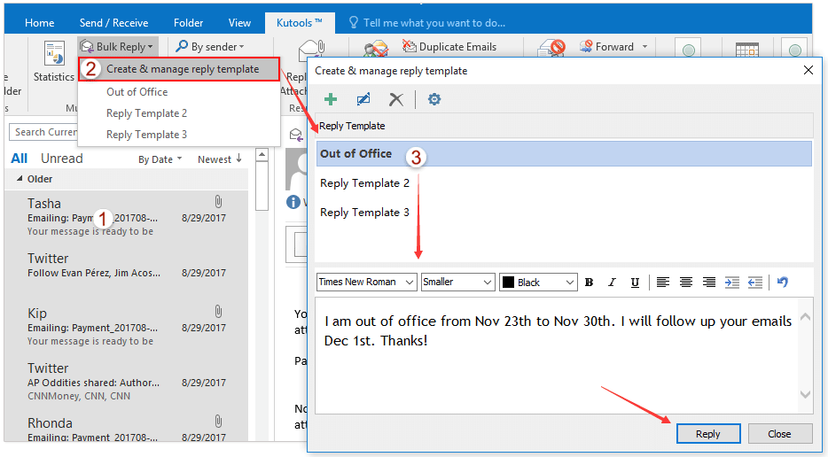 how to edit an existing email template in outlook