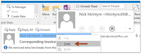 How to add multiple emails senders to distribution list contact go to the reading pane right click the sender in the message header and select copy from the right clicking menu see screenshot thecheapjerseys Choice Image