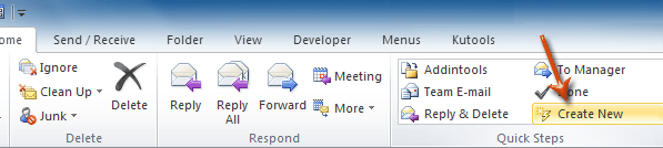 delete outlook template