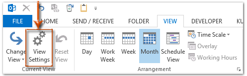 how to change color on outlook