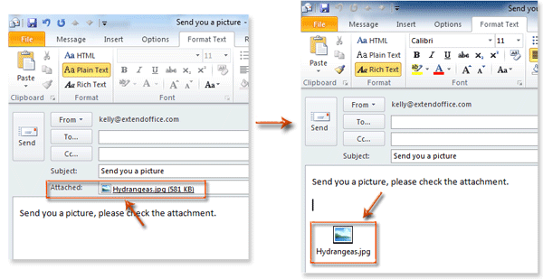 Insert Image Icon Outlook How to insert attachme...