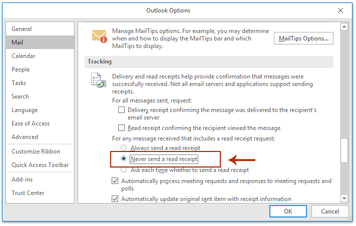how to know if your email was read outlook