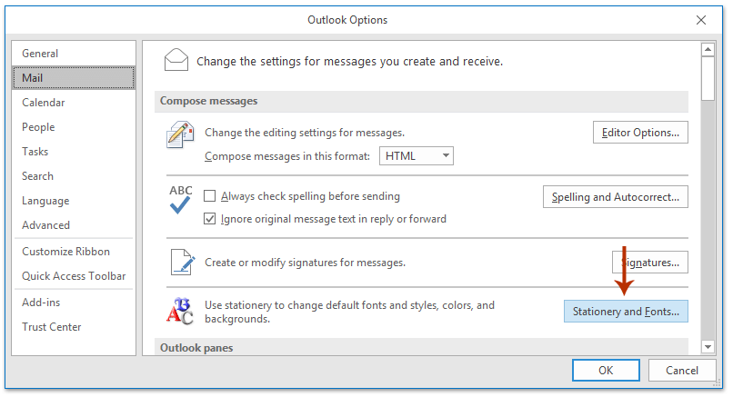edit outlook email template - how to change default email template in outlook
