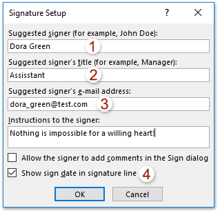 Signature line in word zrom using digital signature in the documents emailed via the microsoft maxwellsz