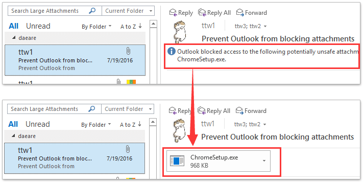 microsoft outlook how to delete email on server