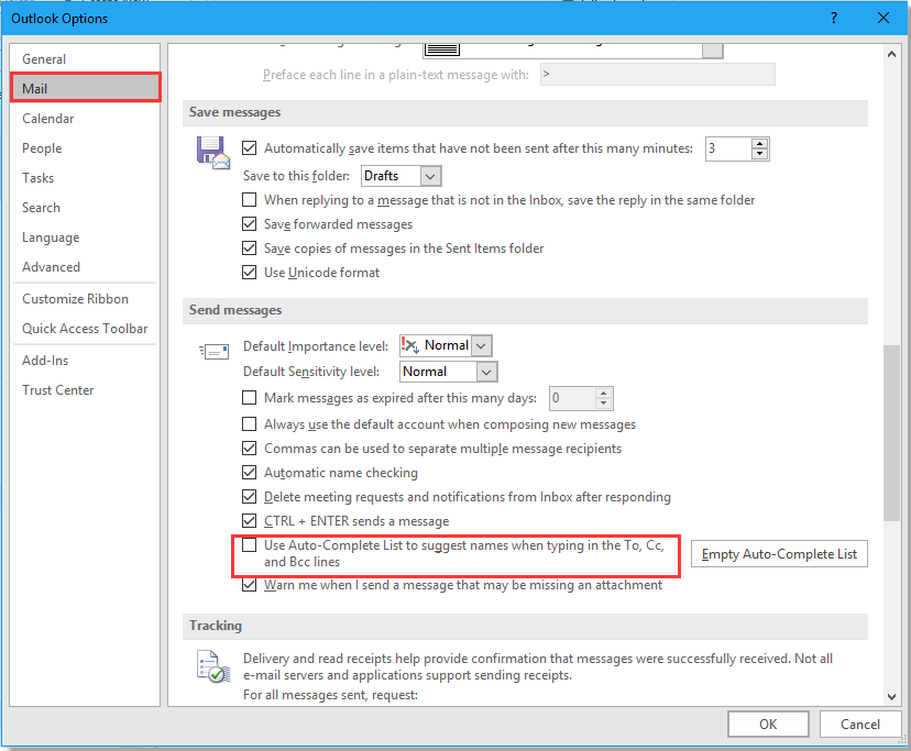 how to disable open email outlook