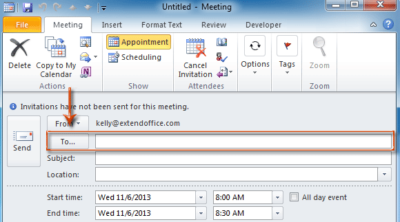 microsoft outlook how to see the attendies in a group