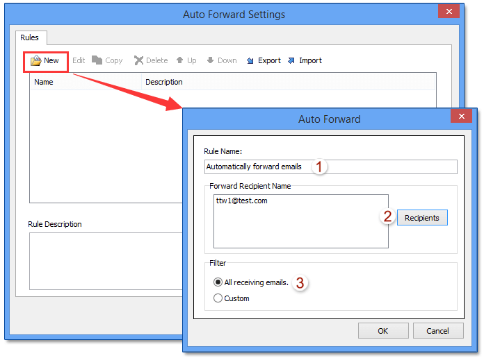 how to set up auto forward with outlook