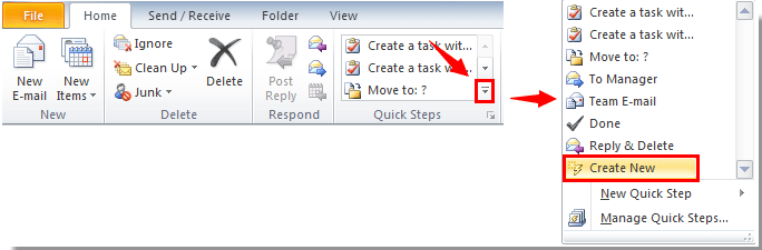 how to create a outlook email
