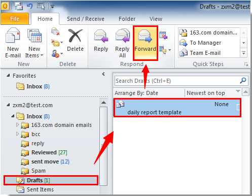 how to delete drafts in email
