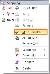 Risultati immagini per outlook task mark complete