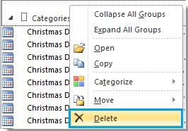 how to delete calendar in outlook 2013