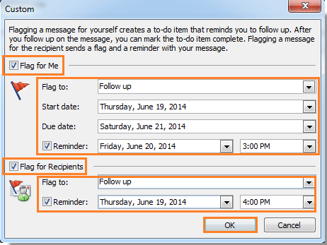 how to send an email message with reminder in outlook