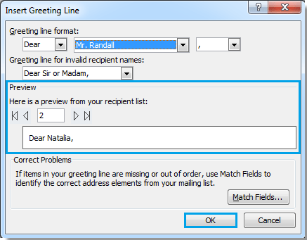 How to send personalized mass emails in outlook note the preview shows you that different certain greetings will be displayed to its corresponding recipients when they receive the email m4hsunfo