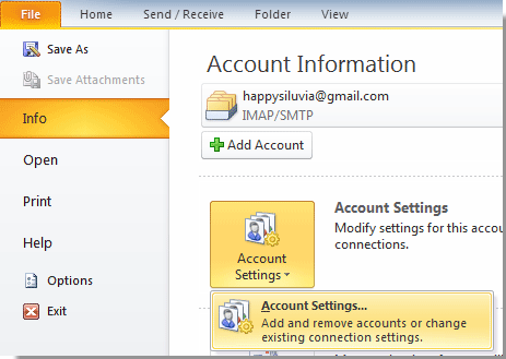 how to set email in outlook 2007