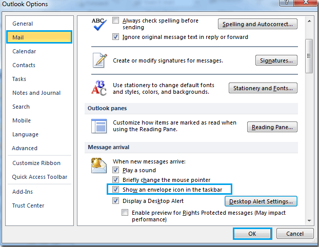 windows 10 how to add email to notification