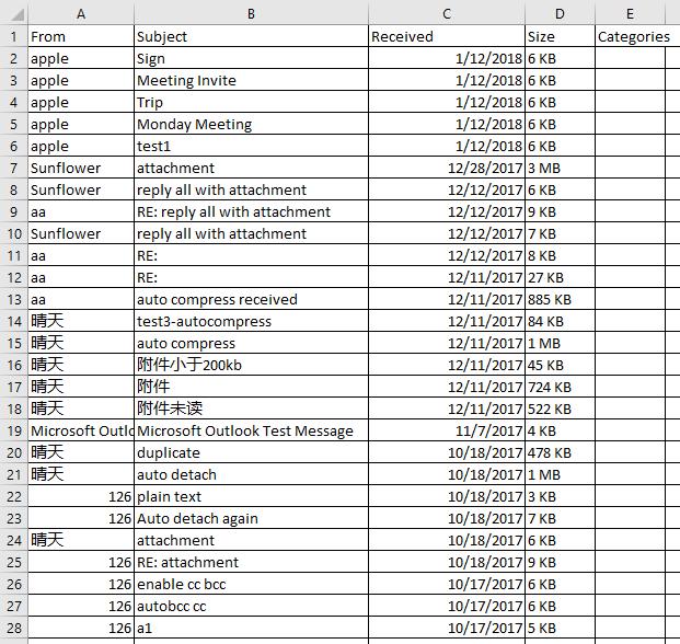 doc export emai in date range 3