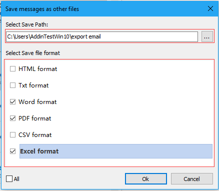 doc export email to msg 5