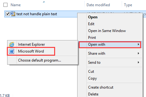 doc export email to word 3