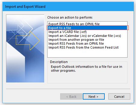 doc export folder to pst 2