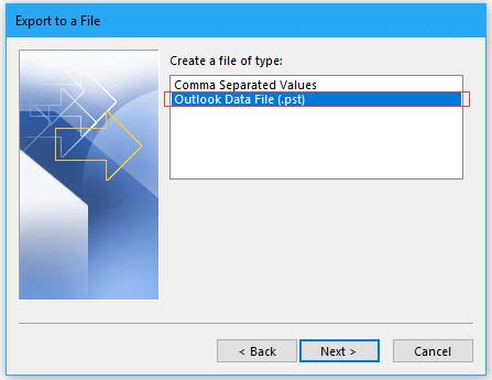 doc export folder to pst 3