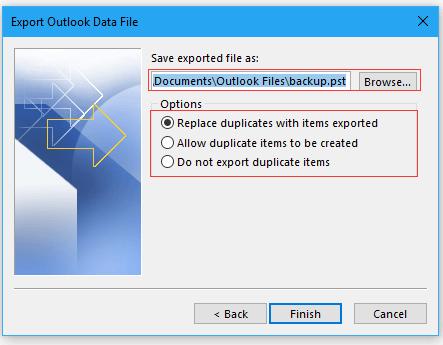 doc export folder to pst 5