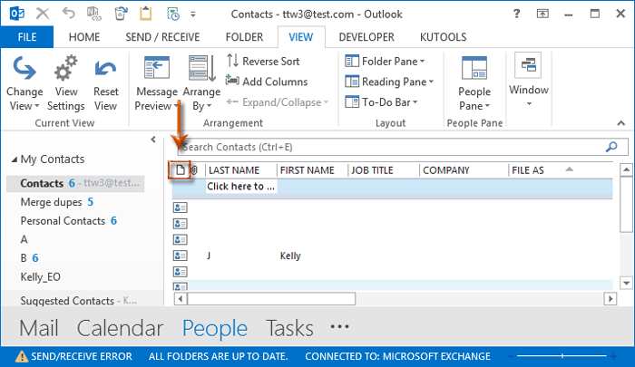 how to make a contact group in outlook