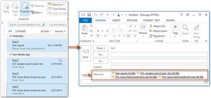 how to send large attachments with mail drop in outlook