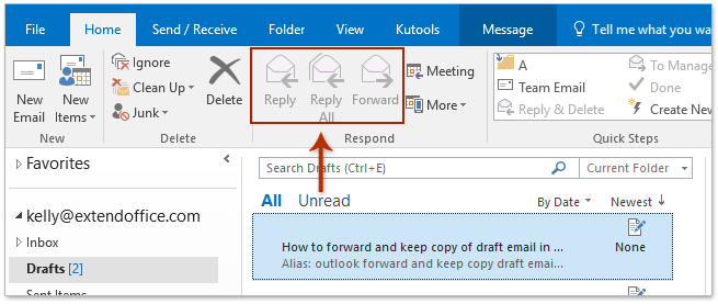how to delete outlook account drafts on samsung