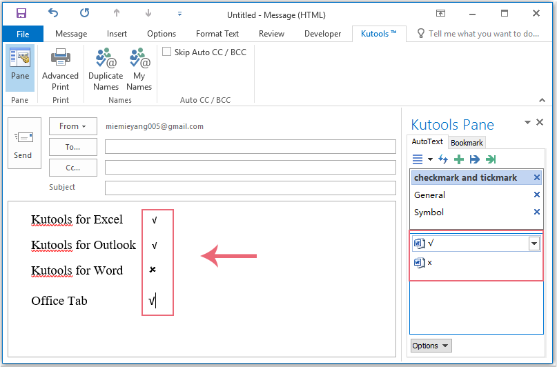 How To Add Check Marks In Emails In Outlook