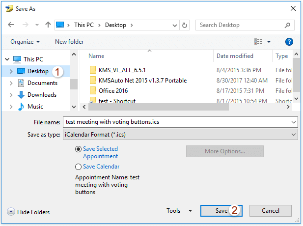 How to create a meeting with voting buttons in Outlook?