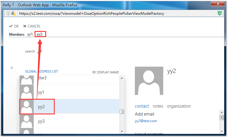 how to add contact to group in outlook web app