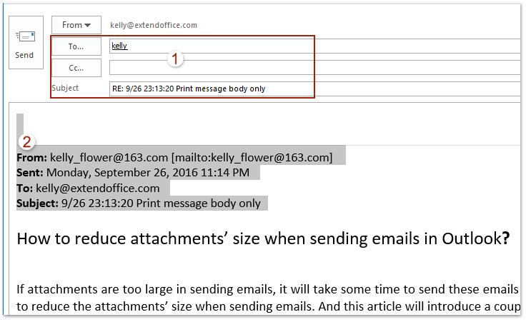 email header