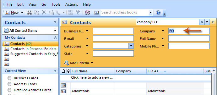 how to change company name on outlook
