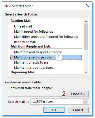 How To Create A Search Folder By A Specific Email Domain Name In