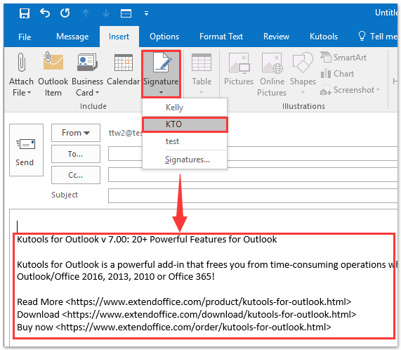 office outlook signature