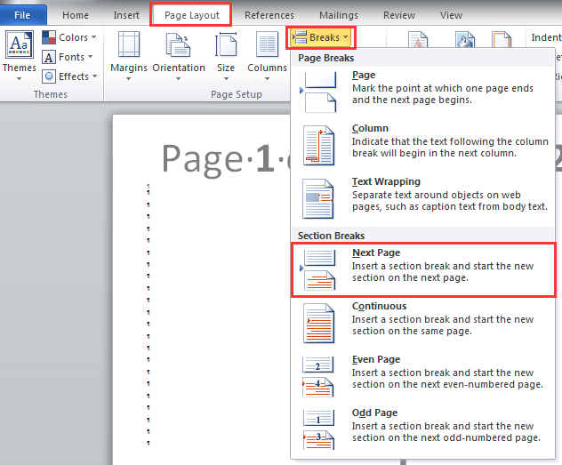 Technology Management Image: How To Change Orientation Of One Page In Word?