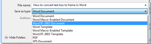 How to convert text box to frame in word step 2 open the word 97 2003 document put the cursor on the text box which you want to convert to frame then please apply this utility by clicking pronofoot35fo Image collections