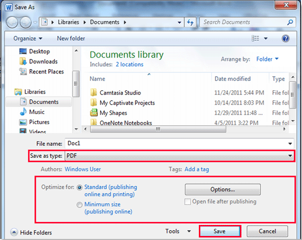 How To Save Document As A PDF In Word?