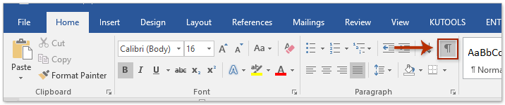 how to read the show hide symbols in word