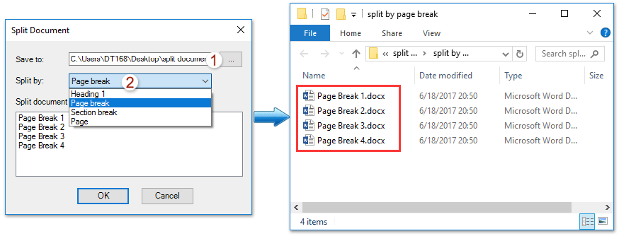 how to put 2 word documents into one