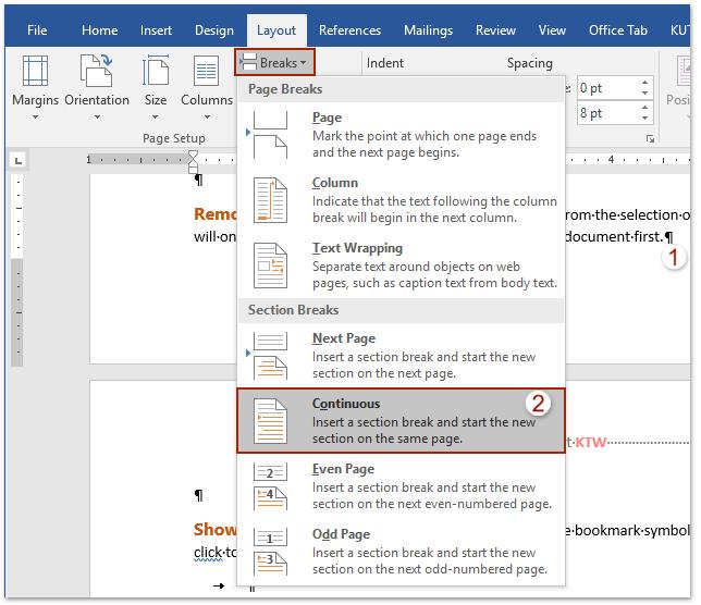 header design for word