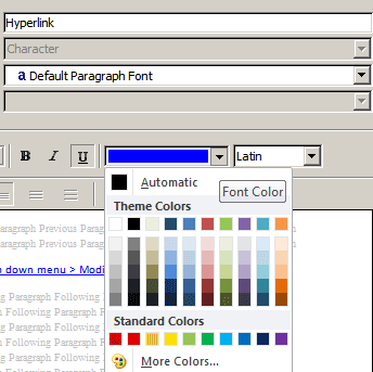 In The Modify Window Click On Blue Color Default And Choose Your Preferred From Dropdown Menu