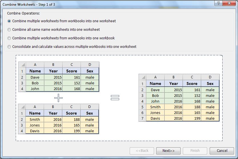 Quickly combine multiple worksheets / ranges from workbooks into ...