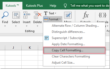 shot copy cell formatting 01