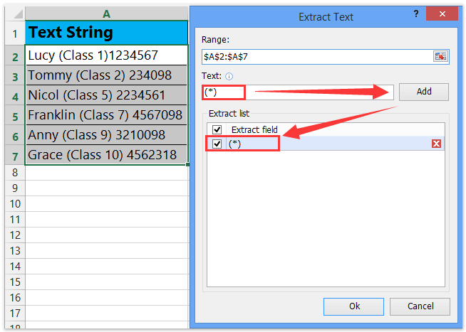 extract text between round brackets