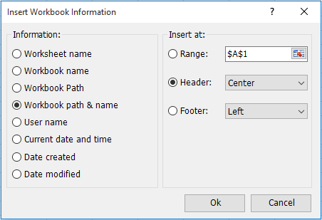shot insert workbook information