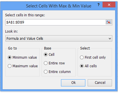 shot select max min values 2